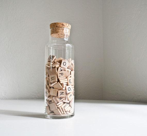 Vintage Glass & Cork Storage Jar