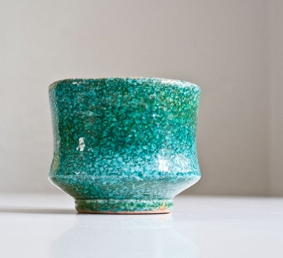 Modern Turquoise Pottery Planter