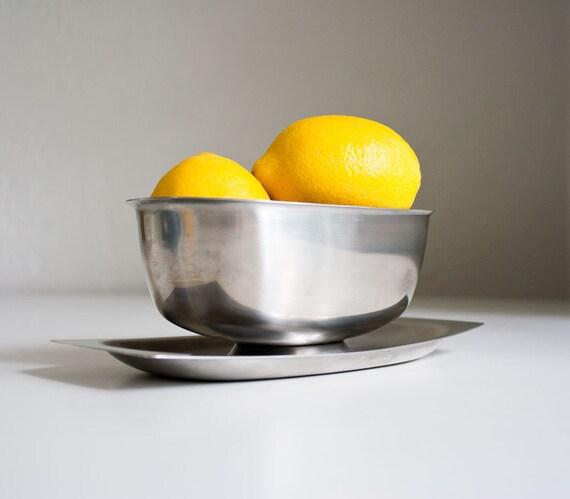 Vintage Scandinavian Modern Stainless Bowl