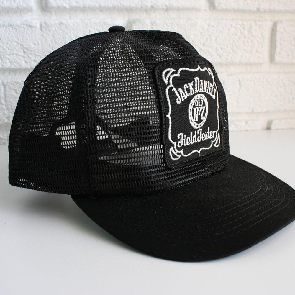 Vintage Black Jack Daniels Trucker Hat