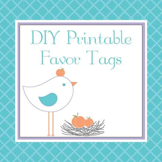 DIY Printable Favor Tags