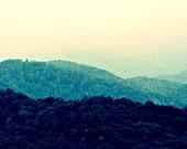 Hills Like Black Caviar - 8x8 -  Series No. 2 - Fine Art Photography - Scenic Mountain Range