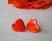 Red Heart earrings, valentine jewelry, love jewelry, heart jewelry, handmade italian jewelry