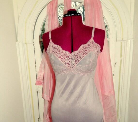 Vintage over dyed  Vassarette  lace insert  full slip size 32