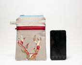 the take along pouch in Vibrant Antlers - ipod, cell phone, blackberry, iphone, camera, gadget