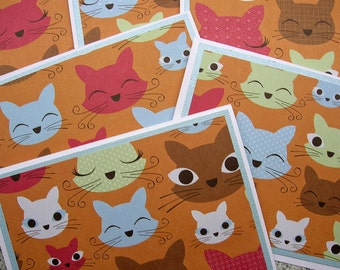 Cute Cats - Blank Notecards - Set of 6