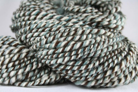 RESERVED FOR 10ThousandThings Sale: FURIGEN Corriedale/Peruvian Wool Handspun 3ply Worsted weight yarn