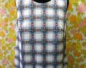 Sleeveless Plaid Polyester Shirt