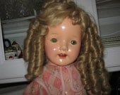 Vintage  Doll HUGE  26 inches Tall Beautiful  Shirley Temple Look Alike /JUST REDUCED