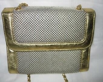 Whiting and Davis Purse Gold and Metallic Tone Ladies Purse/ Vintage Handbag/ Gold Handbag/ By Gatormom13