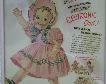 Vintage Doll Effanbee Advertisment Framed C.1950 By Gatormom13