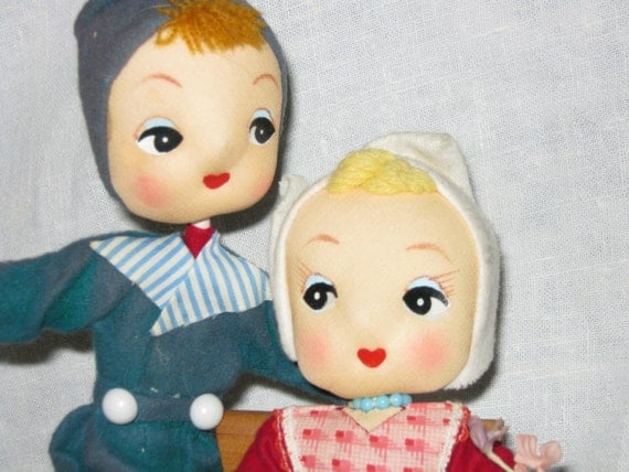 Cloth Doll/Pose Dolls/ PAIR  c.1960's By Gatormom13 JUST REDUCED