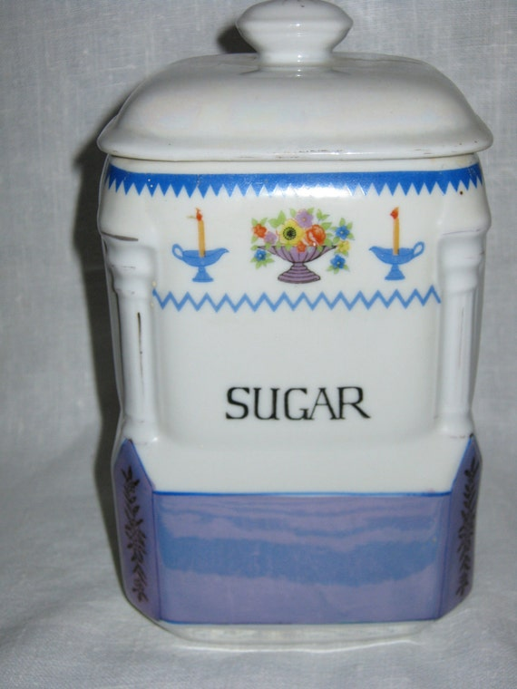 Lusterware Canister / Marked Japan c.1940 Gatormom13 JUST REDUCED