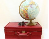 Vintage Hartmann Red Luggage // Travel Bag  //  Travel Luggage // Suitecase