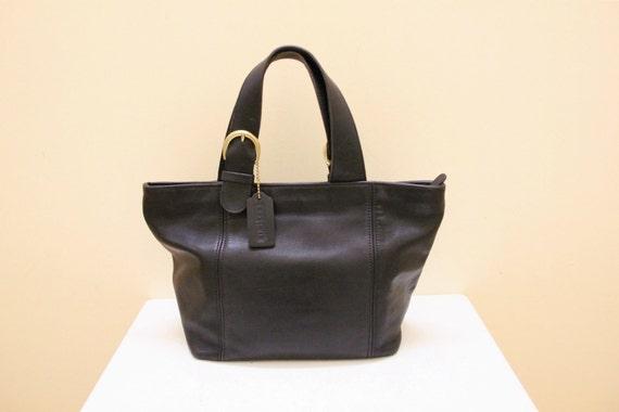 Vintage Black Color  Coach  Hand Bag // Tote