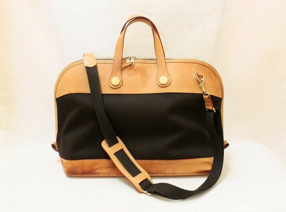 Vintage Dooney and Bourke Travel Duffle Bag with Shoulder Strap, Dooney and Bourke Cabriolet Collection