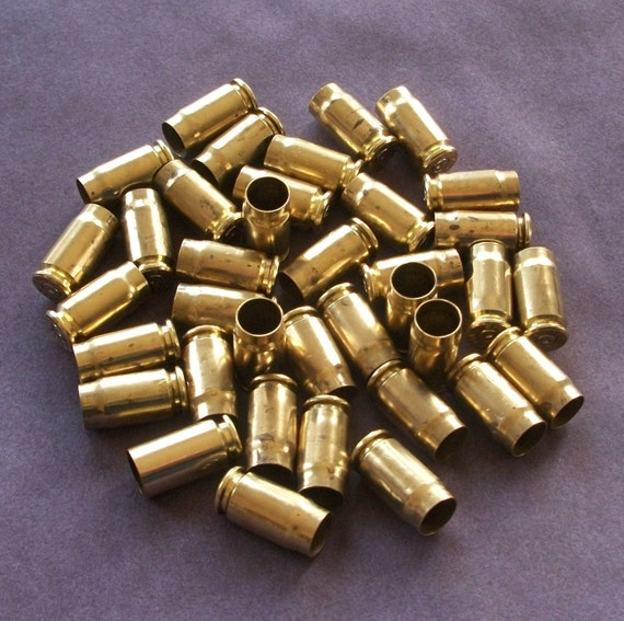 357 Bullet Shells, Set of 10, Cleaned, Polished