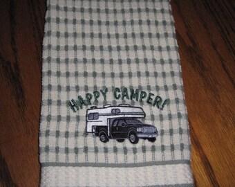 Happy Camper kitchen towel exclusive camper pickup design