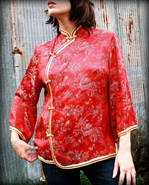Chinese Silk Blouse