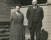 Ma and Pa 1920s 30s Original Vintage Photo 468