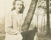 Impaled by a Tree Original Vintage Photo 647