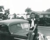 Hood Ornament 1940s Original Vintage Photo 880