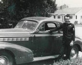 A Man and His Chevy 1930s 1940s Original Vintage Photo 887