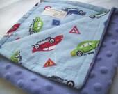 Speed Racer, Travel Minky Blanket, Lovey, Ready To Ship