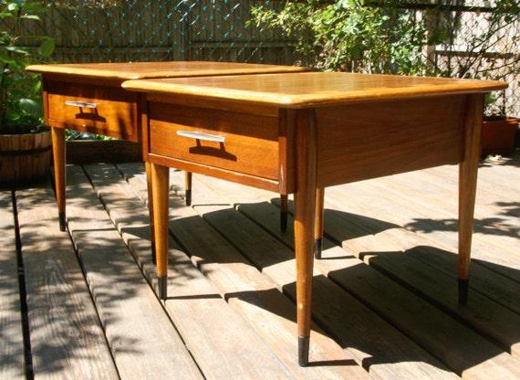 Pair of Lane  Mid Century Modern End Tables from Altavista