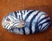 Zebra Painted Rock