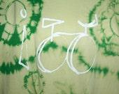 Mens Unisex SALE XXL Cycling Art Tie Dye I Bike No. 2 OOAK