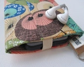Nerd Herder gadget wallet in Paper Parasol for iPod, Droid, iPhone 6, camera, SD cards, USB, batteries, guitar picks, IDs, credit cards