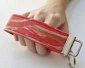 Key Fob Wristlet- Bacon