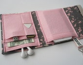 Nerd Herder gadget wallet in Blushing Butterfly for iPod, Droid, iPhone, metronome, camera, earbuds, SD cards, USB, guitar picks, IDs, phone
