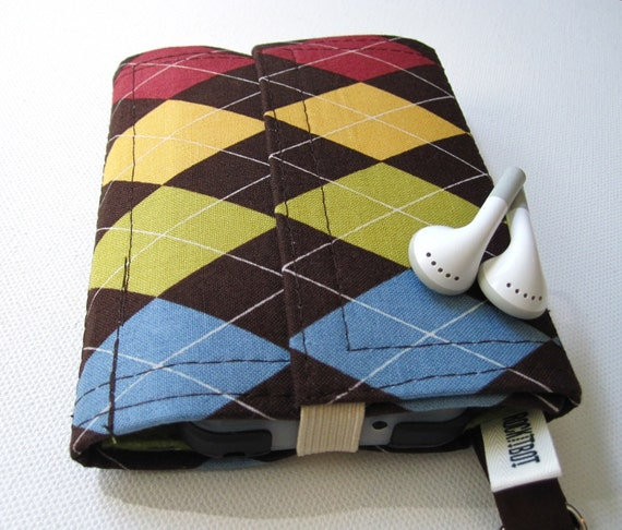 Nerd Herder gadget wallet in Argyle Sweater for iPod, Droid, iPhone, guitar picks, IDs, credit cards