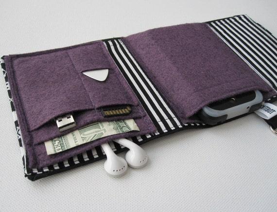 Nerd Herder gadget wallet in Beetlejuice- iPod case for Droid, iPhone, digital camera, smartphone