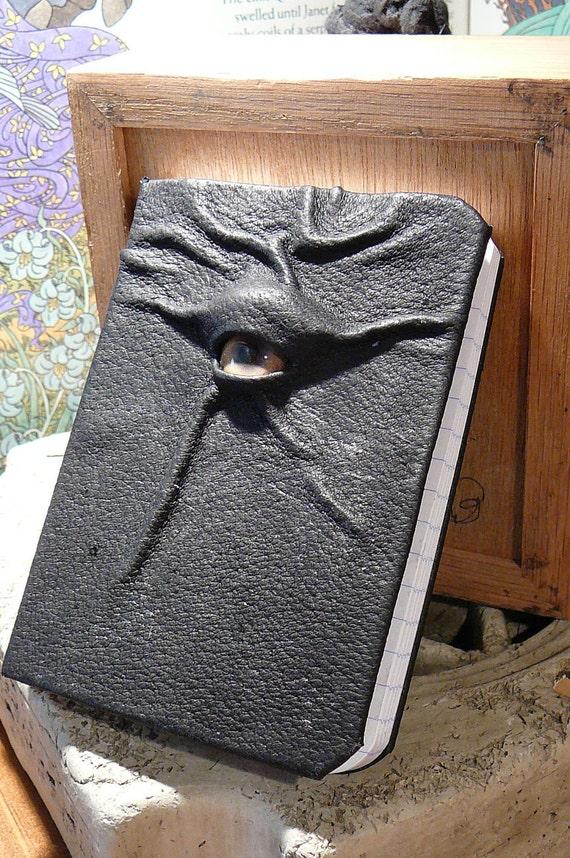 Mythical Beast Book (Mini notebook Black leather Zombie eye)