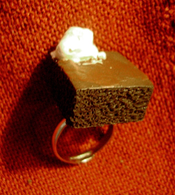 Cute 'Chocolate Cake' One-Size-Fits-All Ring by snowbunnystudios