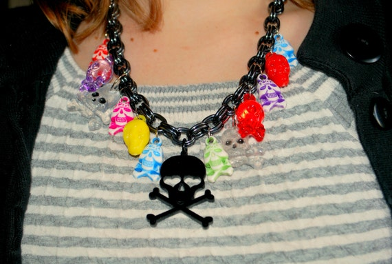 60% OFF - Bulky Multi Skull Necklace