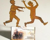 Zombie Chasing Victim Business Card Holder