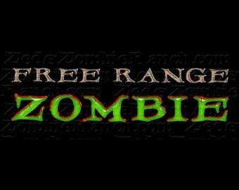 Zombie Shirt - Free Range Zombie T-Shirt