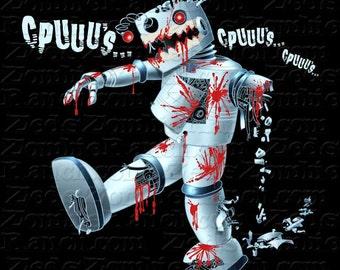 Zombie Shirt - Zombie Robot Seeking CPU's T-Shirt