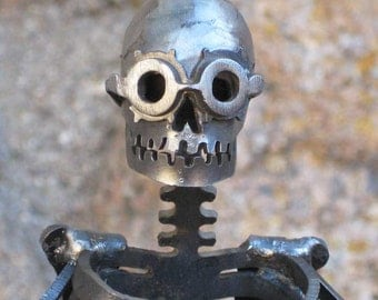 Steampunk Zombie Skeleton Steel Sculpture
