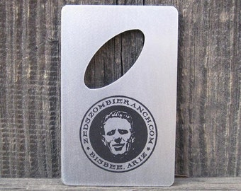 Zed's Zombie Ranch Bottle Opener for Wallet - FREE SHIPPING