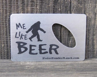 Bigfoot Bottle Opener for Wallet - FREE SHIPPING
