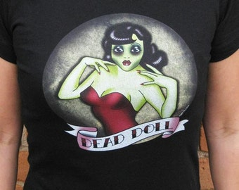 Zombie Shirt - Dead Doll Zombie Pin Up T-Shirt