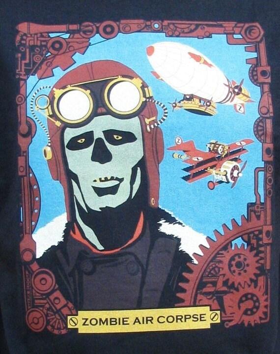 Zombie Shirt - Zombie Air Corpse WPA Poster T-Shirt