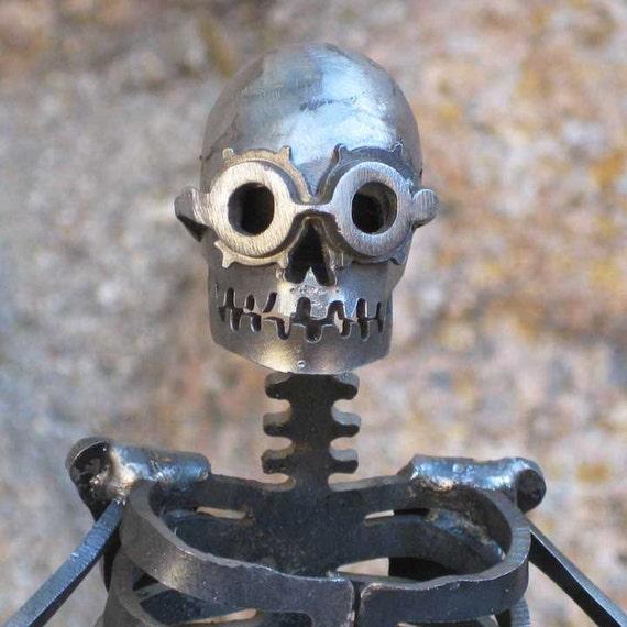 Steampunk Zombie Skeleton Steel Sculpture