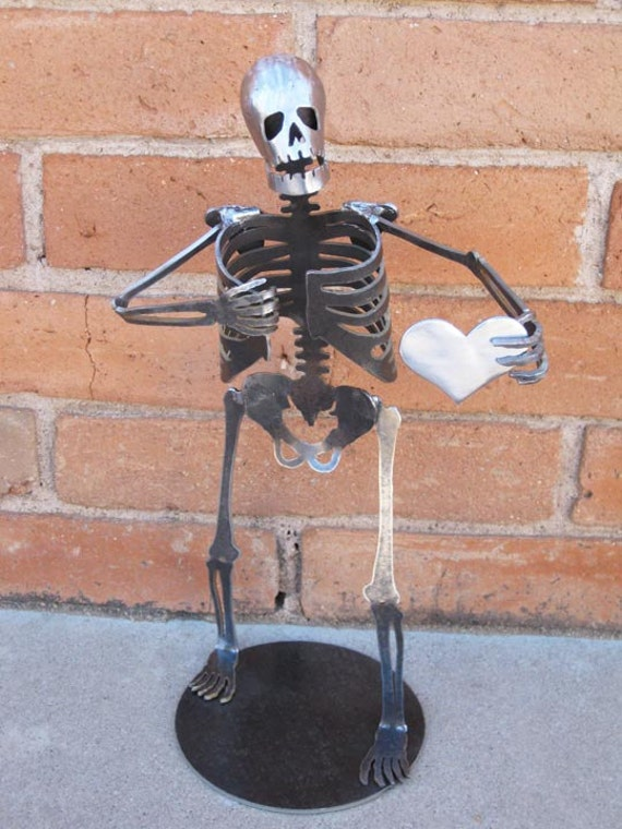 Zombie Skeleton HUGE SIZE Metal Sculpture