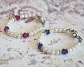 Twins Baby Bracelet: Two Tiny Bracelets to Identify Twin Girls